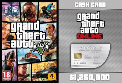 GTA V + GTA Online: Great White Shark Cash Card (Global)