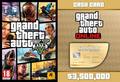 GTA V + GTA Online: Whale Shark Cash Card (Global)