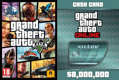 GTA V + GTA Online: Megalodon Shark Cash Card (Global)