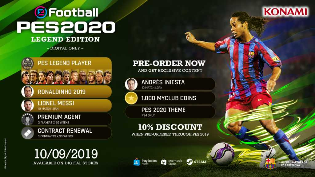Buy eFootball PES 2020 Legend Edition Steam Key | Instant Delivery
